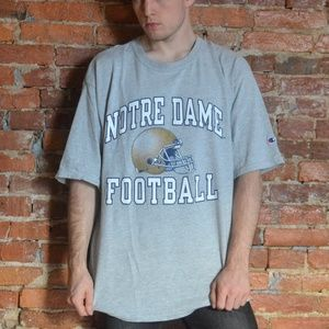 Vintage Notre Dame Football Champion Tee - 90s